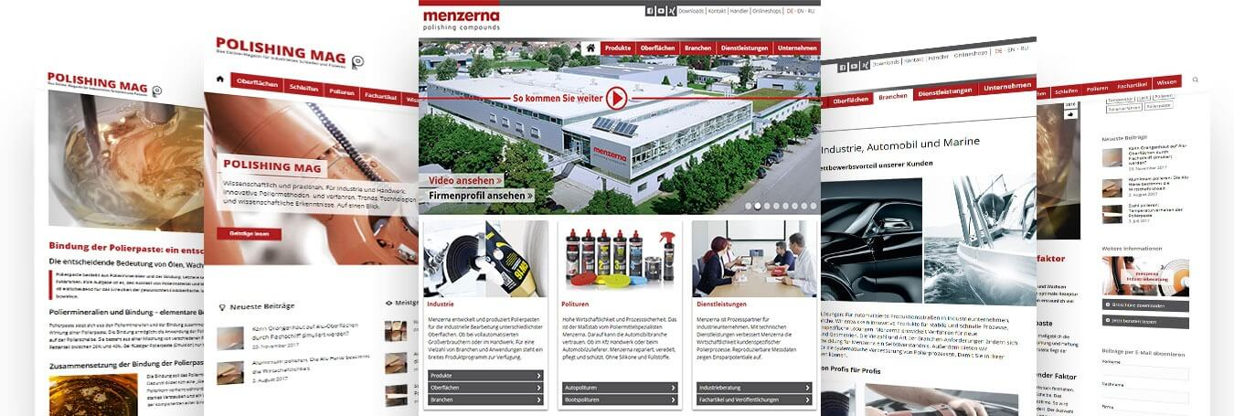 Websites Bilder Menzerna