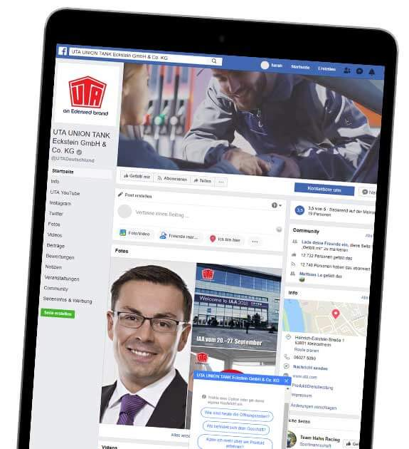 UTA Facebook Tablet