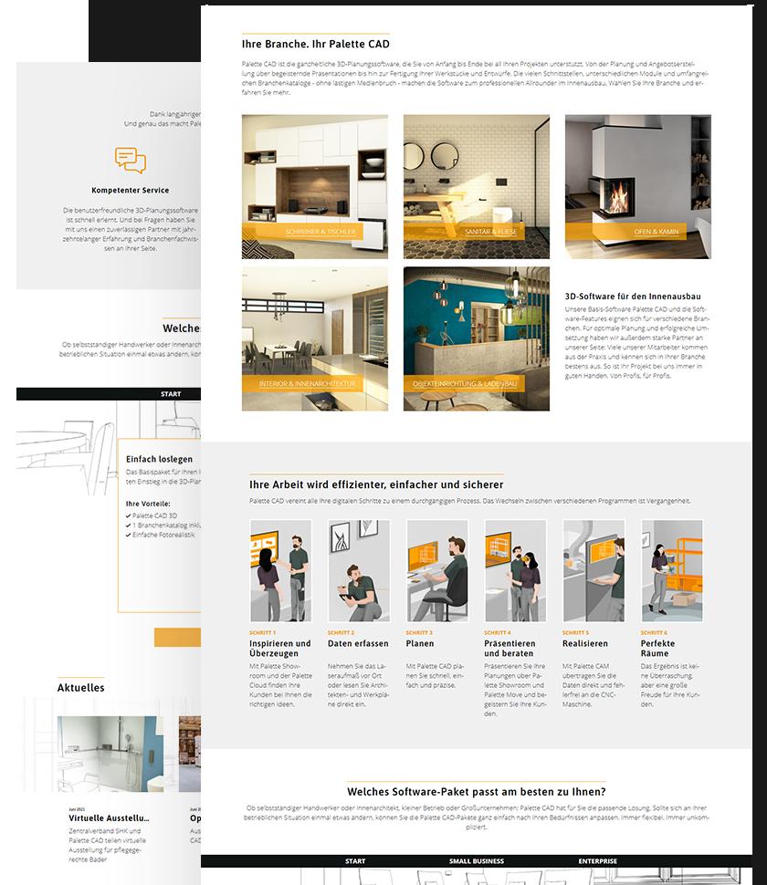 PaletteCAD Kundenreferenz: Website-Contentseiten