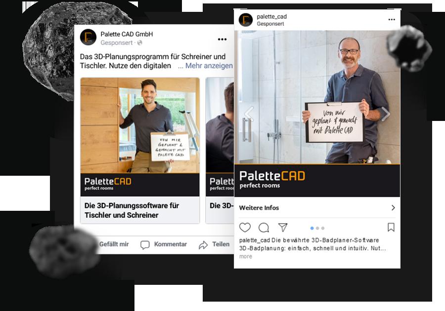 PaletteCAD Kundenreferenz: Social Media Beiträge
