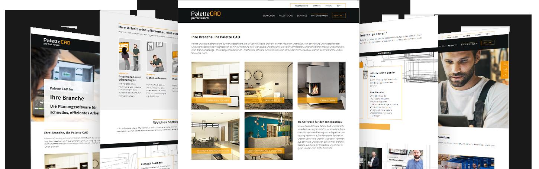 PaletteCAD Kundenreferenz: Verschiedene Website-Contentseiten